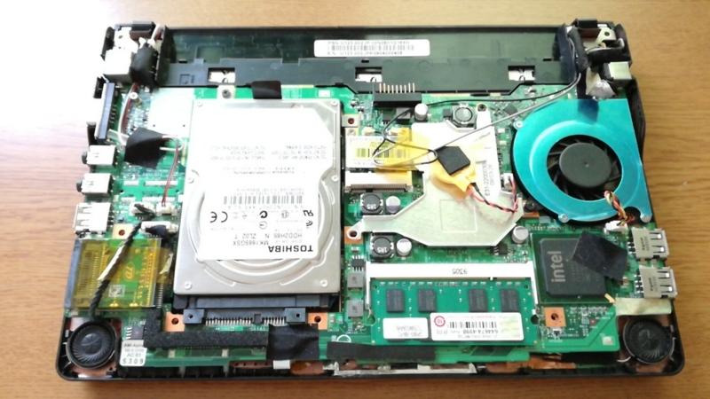 1000円のジャンクノートPCは動くか【MSI_U123:CPUクーラー交換】