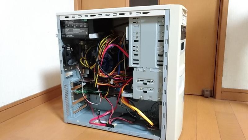 フルATXタワーケースにマイクロATXマザー