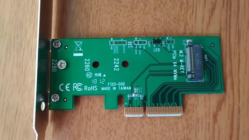 M.2_NVMe用PCIe拡張カード
