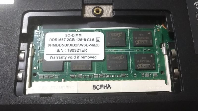 2GBのDDR667メモリ